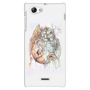 Snooky 38706 Digital Print Hard Back Case Cover For Sony Xperia J - Multicolour
