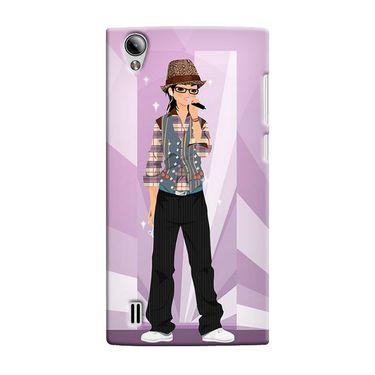 Snooky 37523 Digital Print Hard Back Case Cover For Vivo Y15 - Pink