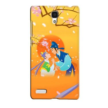 Snooky 36048 Digital Print Hard Back Case Cover For Xiaomi Redmi Note - Orange