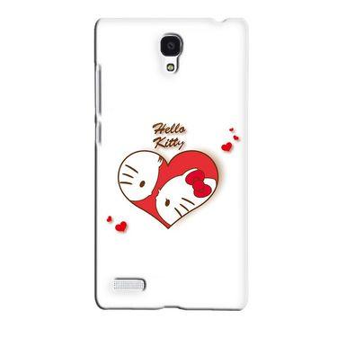 Snooky 36080 Digital Print Hard Back Case Cover For Xiaomi Redmi Note - White