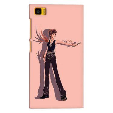 Snooky 38372 Digital Print Hard Back Case Cover For Xiaomi MI3 - Mehroon