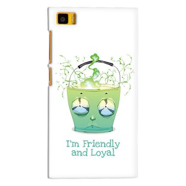 Snooky 38397 Digital Print Hard Back Case Cover For Xiaomi MI3 - White