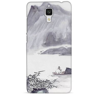 Snooky 38415 Digital Print Hard Back Case Cover For Xiaomi MI 4 - Grey