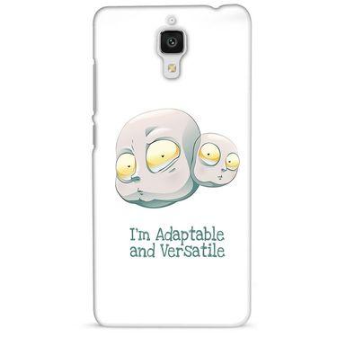 Snooky 38442 Digital Print Hard Back Case Cover For Xiaomi MI 4 - White
