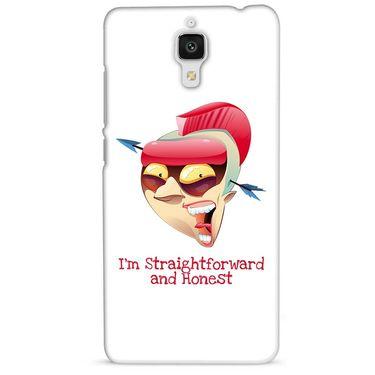 Snooky 38444 Digital Print Hard Back Case Cover For Xiaomi MI 4 - White
