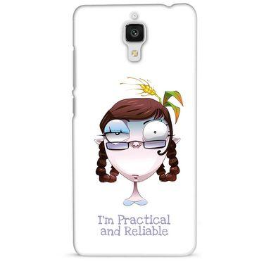 Snooky 38446 Digital Print Hard Back Case Cover For Xiaomi MI 4 - White