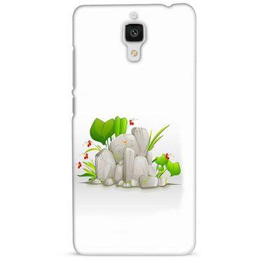 Snooky 38455 Digital Print Hard Back Case Cover For Xiaomi MI 4 - White