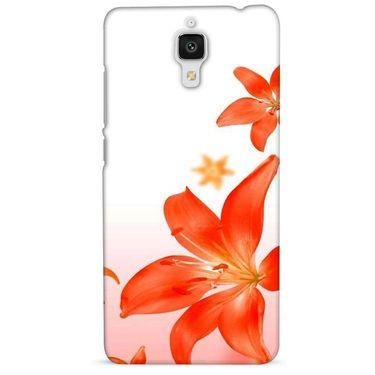 Snooky 38464 Digital Print Hard Back Case Cover For Xiaomi MI 4 - White