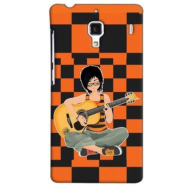Snooky 38477 Digital Print Hard Back Case Cover For Xiaomi Redmi 1S - Black