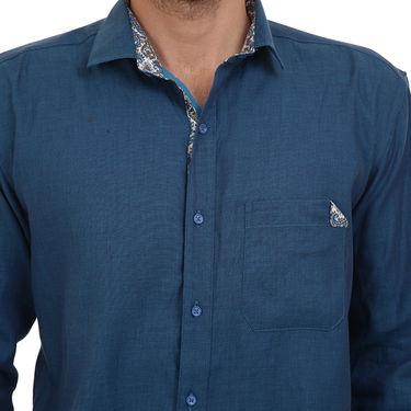 Bendiesel Plain Cotton Shirt_Bdc097 - Blue