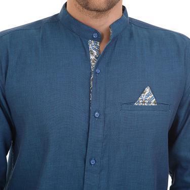Bendiesel Plain Cotton Shirt_Bdcc016 - Blue