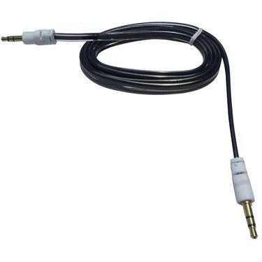 Flashmob C426AU Jelly Flat Aux Cable - Black