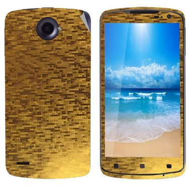 Snooky 18699 Mobile Skin Sticker For Lenovo S920 - Gold