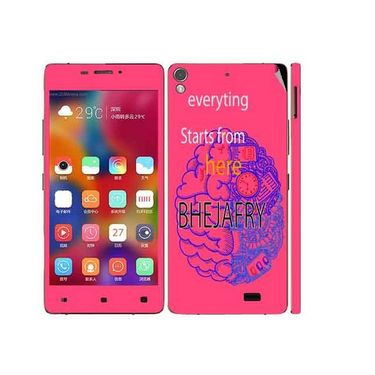 Snooky 27700 Digital Print Mobile Skin Sticker For Gionee Elife 5.1 - Pink