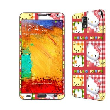 Snooky 39474 Digital Print Mobile Skin Sticker For Samsung Galaxy Note 3 N9000 - Pink