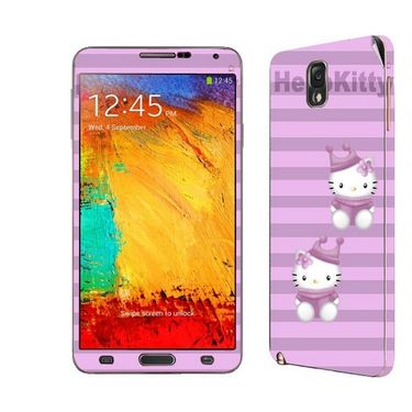 Snooky 39475 Digital Print Mobile Skin Sticker For Samsung Galaxy Note 3 N9000 - Purple