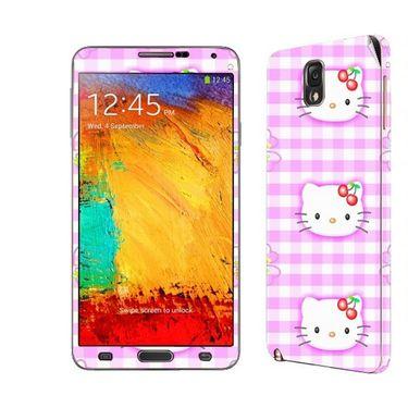 Snooky 39476 Digital Print Mobile Skin Sticker For Samsung Galaxy Note 3 N9000 - Pink