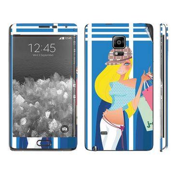 Snooky 39503 Digital Print Mobile Skin Sticker For Samsung Galaxy Note EDGE - Blue