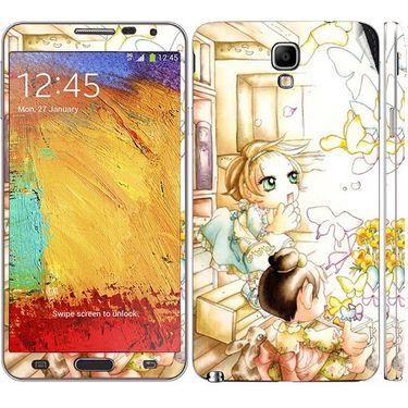 Snooky 39509 Digital Print Mobile Skin Sticker For Samsung Galaxy Note 3 Neo - White