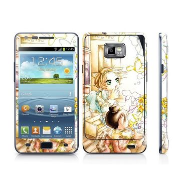 Snooky 39521 Digital Print Mobile Skin Sticker For Samsung Galaxy S2 I9100 - White