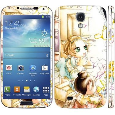 Snooky 39545 Digital Print Mobile Skin Sticker For Samsung Galaxy S4 I9500 - White
