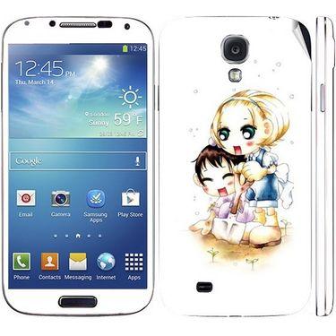 Snooky 39553 Digital Print Mobile Skin Sticker For Samsung Galaxy S4 I9500 - White