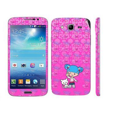 Snooky 39603 Digital Print Mobile Skin Sticker For Samsung Galaxy Mega 5.8 Gt 18281 - Pink