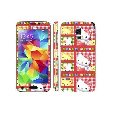 Snooky 39630 Digital Print Mobile Skin Sticker For Samsung Galaxy S5 Mini - Pink