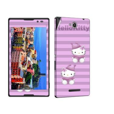 Snooky 39643 Digital Print Mobile Skin Sticker For Sony Xperia C / S39h - Purple