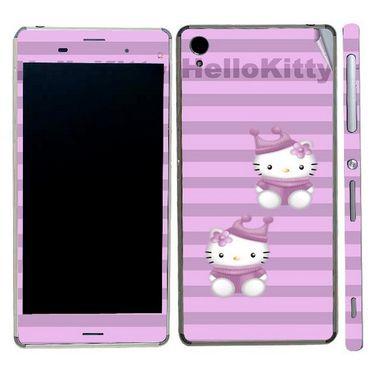 Snooky 39763 Digital Print Mobile Skin Sticker For Sony Xperia Z3 - Purple