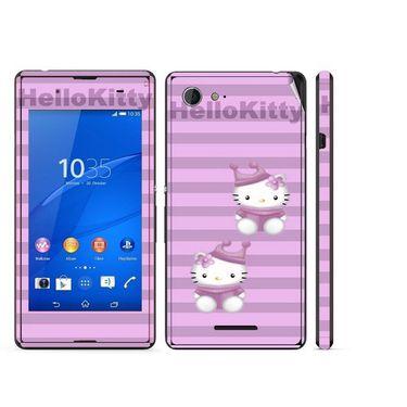 Snooky 39799 Digital Print Mobile Skin Sticker For Sony Xperia E3 Dual - Purple