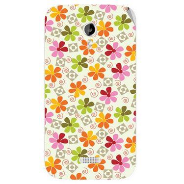 Snooky 40348 Digital Print Mobile Skin Sticker For Micromax Canvas Lite A92 - White