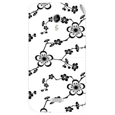 Snooky 40356 Digital Print Mobile Skin Sticker For Micromax Canvas Lite A92 - White