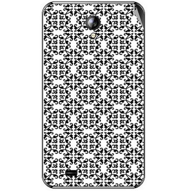 Snooky 40388 Digital Print Mobile Skin Sticker For Micromax Superfone A101 - White