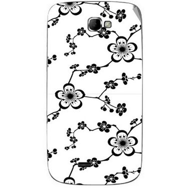 Snooky 40510 Digital Print Mobile Skin Sticker For Micromax Canvas Engage A091 - White
