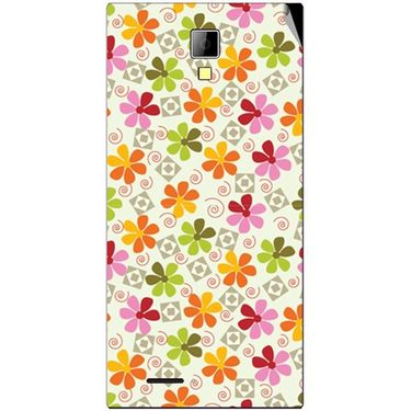 Snooky 40530 Digital Print Mobile Skin Sticker For Micromax Canvas Xpress A99 - White