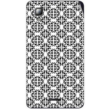 Snooky 40542 Digital Print Mobile Skin Sticker For Micromax Canvas Doodle 3 A102 - White