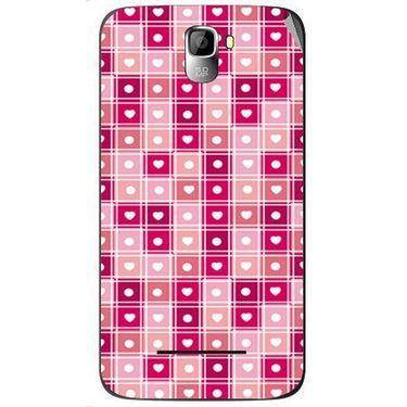 Snooky 40565 Digital Print Mobile Skin Sticker For Micromax Canvas Entice A105 - Pink