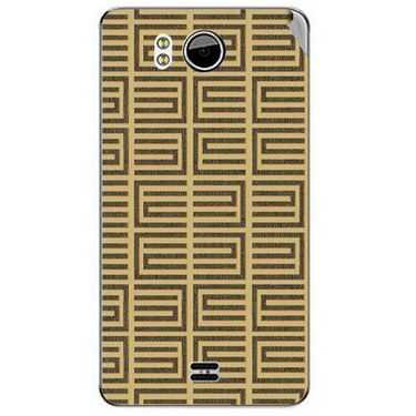 Snooky 40602 Digital Print Mobile Skin Sticker For Micromax Canvas Doodle A111 - Brown
