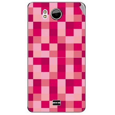 Snooky 40605 Digital Print Mobile Skin Sticker For Micromax Canvas Doodle A111 - Purple