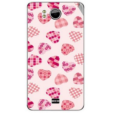 Snooky 40606 Digital Print Mobile Skin Sticker For Micromax Canvas Doodle A111 - White