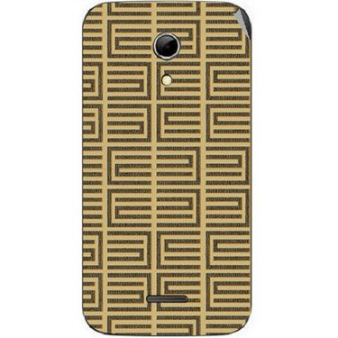 Snooky 40616 Digital Print Mobile Skin Sticker For Micromax Canvas 2.2 A114 - Brown