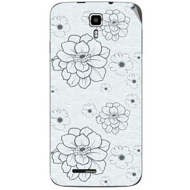 Snooky 40665 Digital Print Mobile Skin Sticker For Micromax Canvas Juice A177 - Grey