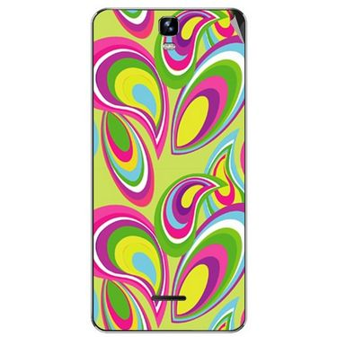 Snooky 40673 Digital Print Mobile Skin Sticker For Micromax Canvas HD Plus A190 - multicolour
