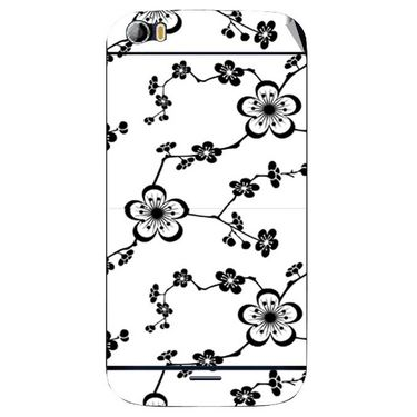 Snooky 40706 Digital Print Mobile Skin Sticker For Micromax Canvas Doodle 2 A240 - White