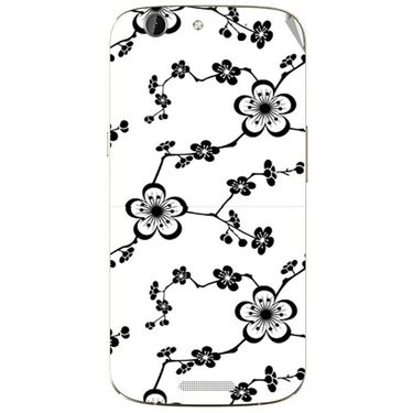 Snooky 40720 Digital Print Mobile Skin Sticker For Micromax Canvas Gold A300 - White