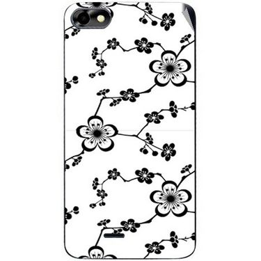 Snooky 40776 Digital Print Mobile Skin Sticker For Micromax Bolt D321 - White
