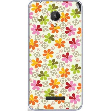 Snooky 40782 Digital Print Mobile Skin Sticker For Micromax Canvas Spark Q380 - White