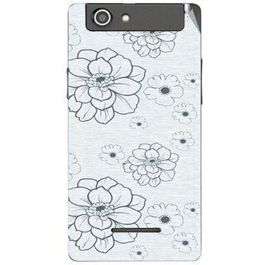 Snooky 40847 Digital Print Mobile Skin Sticker For XOLO A500S - Grey
