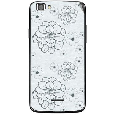 Snooky 40861 Digital Print Mobile Skin Sticker For XOLO A500S Lite - Grey